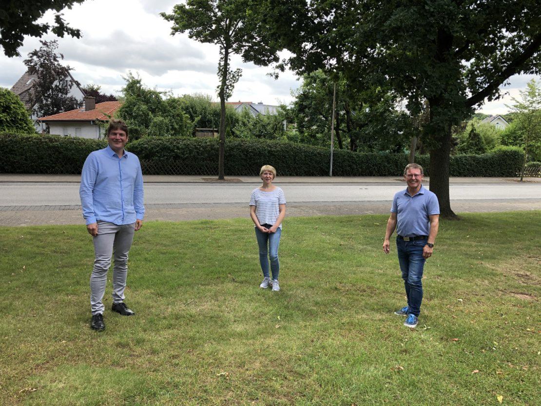 v.l.n.r.: Nicolas Aisch, Melanie Schreiber und Werner Dürdoth